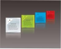 向量马赛克主题。 有空间的Colorfuly配件箱您的是文本。 免版税库存照片