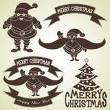 向量 圣诞节设计元素集 免版税库存照片