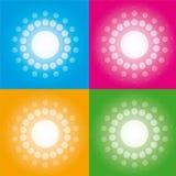向量-明亮的光栅 免版税库存照片