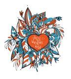 向量 概略爱和心脏乱画 免版税图库摄影