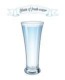 向量 10 eps 一杯新鲜的清楚的水 免版税图库摄影