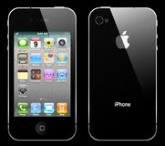 向量iphone 4 免版税库存照片