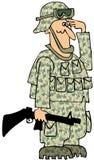 向致敬的海军陆战队员 免版税库存照片