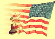 向致敬退伍军人 免版税图库摄影