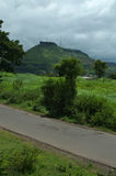 向Ajinkyatara山我的路 免版税库存图片