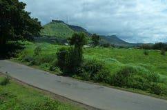 向Ajinkyatara山II的路 库存图片