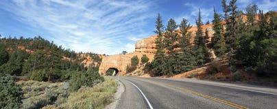 向Bryce峡谷,全景的路 库存照片