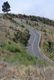 向el泰德峰,特内里费岛,西班牙的路 免版税库存图片