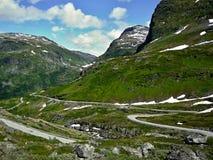向Geiranger的挪威路63 库存图片