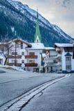 向Ischgl,奥地利的路 免版税库存照片