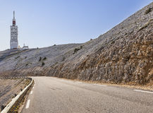 向Mont Ventoux的路 免版税图库摄影