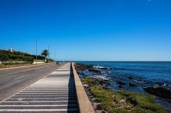 向Punta del Este的路 免版税库存图片