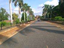 向Purana quila的路 库存图片