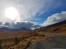 向Snowdonia国家公园的路 图库摄影