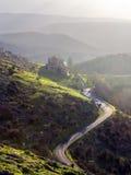向Virgen de Oro圣所的一条路  库存照片
