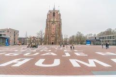 吕伐登,荷兰, 2018年4月14日,人参观 库存图片