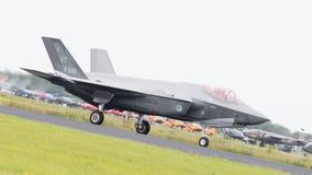 吕伐登,荷兰- 2016年6月10日:在r的荷兰F-35 库存图片