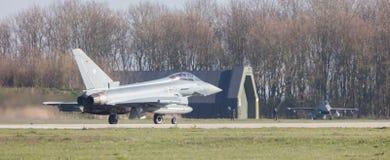 吕伐登,荷兰- 2016年4月11日:德语空军队Eurof 库存照片
