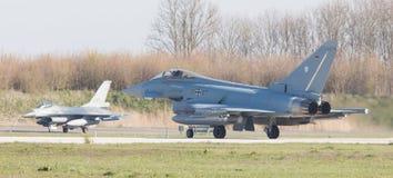 吕伐登,荷兰- 2016年4月11日:德语空军队Eurof 免版税库存图片