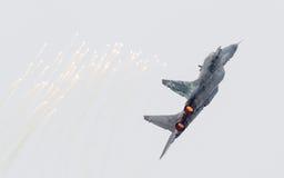 吕伐登,荷兰- 2016年6月11日:斯洛伐克空军队MiG 免版税库存照片
