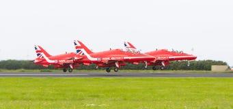 吕伐登,荷兰- 2016年6月10日:皇家空军红色箭头穿孔机 免版税库存图片