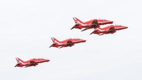 吕伐登,荷兰- 2016年6月10日:皇家空军红色箭头穿孔机 库存图片