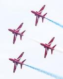 吕伐登,荷兰- 2016年6月10日:皇家空军红色箭头穿孔机 免版税库存照片