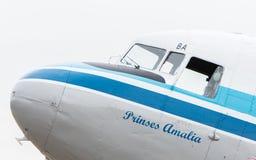 吕伐登,荷兰- 2016年6月11日:达可它(DC-3) PH-PB 免版税图库摄影