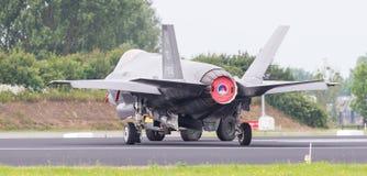 吕伐登,荷兰- 2016年6月11日:F35联接罢工战斗机 免版税库存照片