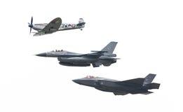 吕伐登,荷兰- 2016年6月11日:F-35闪电II, 图库摄影