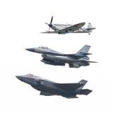 吕伐登,荷兰- 2016年6月11日:F-35闪电II, 免版税库存图片