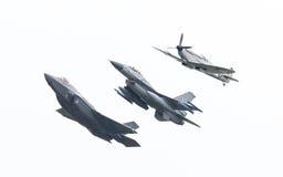 吕伐登,荷兰- 2016年6月11日:F-35闪电II, 库存照片