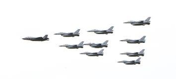 吕伐登,荷兰- 2016年6月10日:F-35闪电II f 库存图片