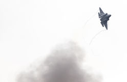 吕伐登,荷兰- 2016年6月11日:F-35闪电II f 库存照片
