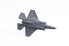 吕伐登,荷兰- 2016年6月11日:F-35闪电II f 免版税图库摄影