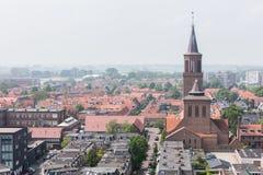 吕伐登,荷兰- 2016年5月28日:Leeuwa的部分的看法 免版税库存图片