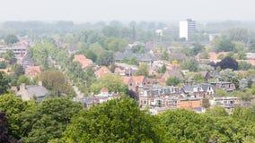 吕伐登,荷兰- 2016年5月28日:Leeuwa的部分的看法 图库摄影