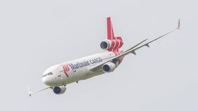 吕伐登,荷兰- 2016年6月11日:PH-MCU Martinair Ho 图库摄影