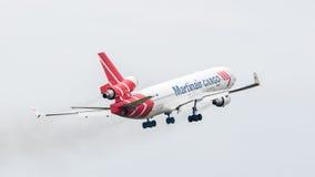 吕伐登,荷兰- 2016年6月11日:PH-MCU Martinair Ho 库存照片