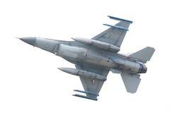 吕伐登,荷兰- 5月26 :在compa期间的F-16战斗机 免版税图库摄影