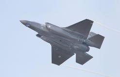 吕伐登,荷兰- 5月26 :F-35在它期间的战斗机是fi 免版税库存图片