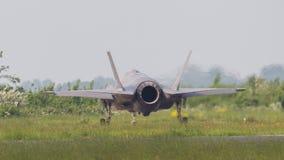 吕伐登,荷兰- 5月26 :F-35在它期间的战斗机是fi 库存照片