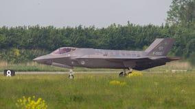 吕伐登,荷兰- 5月26 :F-35在它期间的战斗机是fi 库存图片