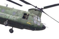 吕伐登,荷兰- JUNI 11 2016年:契努克族CH-47军事h 免版税库存照片