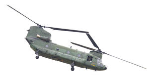 吕伐登,荷兰- JUNI 11 2016年:契努克族CH-47军事h 免版税图库摄影