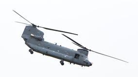 吕伐登,荷兰- JUNI 11 2016年:契努克族CH-47军事h 库存图片