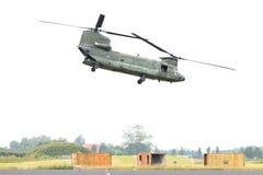 吕伐登,荷兰- JUNI 11 2016年:契努克族CH-47军事h 库存照片