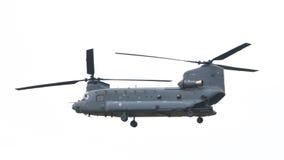 吕伐登,荷兰- JUNI 11 2016年:契努克族CH-47军事h 免版税库存图片