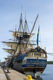 吕勒奥瑞典– 8月23日:瑞典人船Gotheborg 免版税库存图片