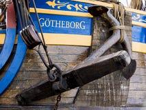 吕勒奥瑞典– 8月23日:瑞典人船Gotheborg 免版税图库摄影